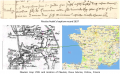 Nicolas Audet dit Lapointe – baptism record 1637 and map showing birthplace