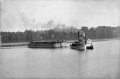 Edwards barge transporting workers c1900