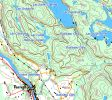 Map of Lac Cullen, Petit Lac Cullen & Lac Cassidy